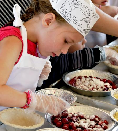 Pie Making at the National Cherry Festival