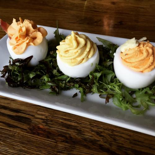 deviled eggs at South