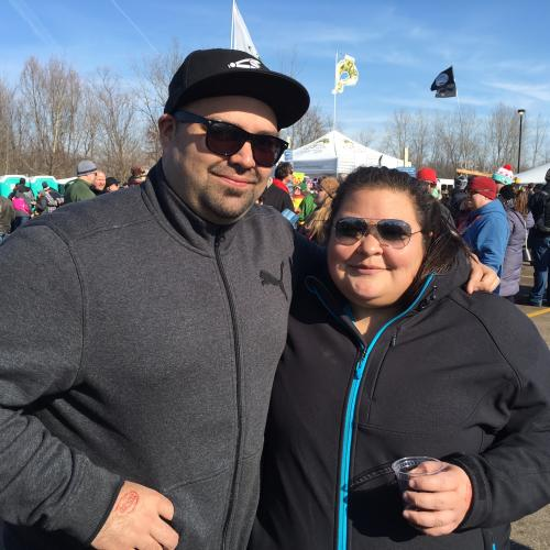 Mark and Claudia, Winners at Michigan Winter Beer Fest