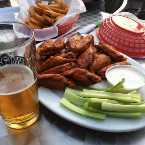 Instagram photo of wings from Three Dollar Cafe in Sandy Springs, GA, taken by @schineyaz.