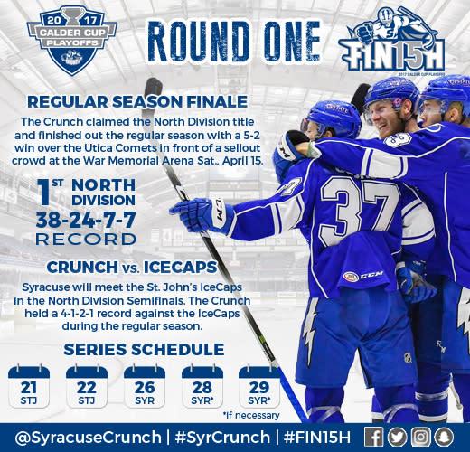Syracuse Crunch Playoff Info Flier
