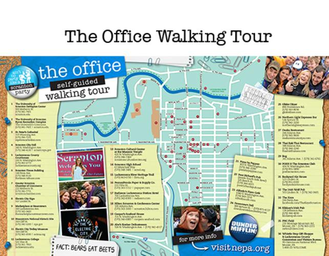 A small picture of The Office Walking Tour map.