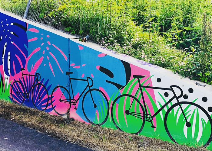 Erie Lackawanna Trail bike mural