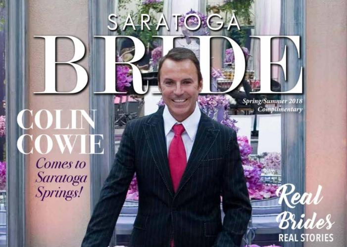Saratoga Bride magazine cover with Colin Cowie