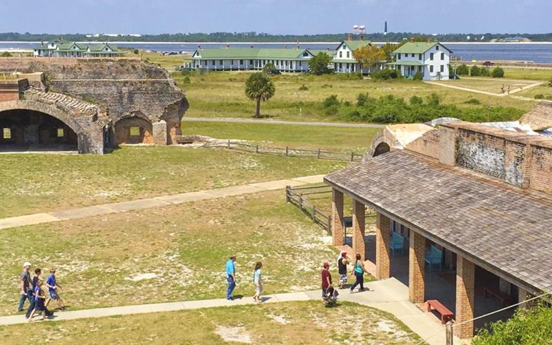 Aerial view of Fort Pickens