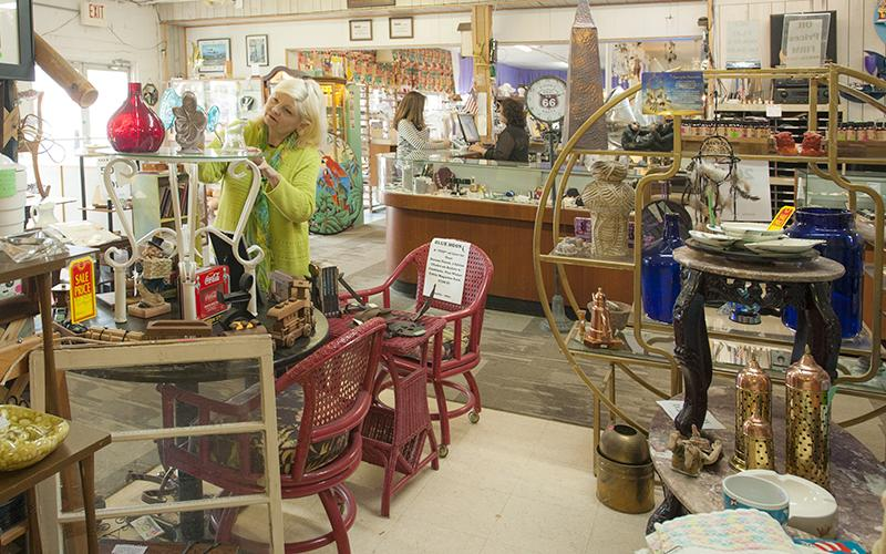 Antique shopping at Blue Moon Antiques