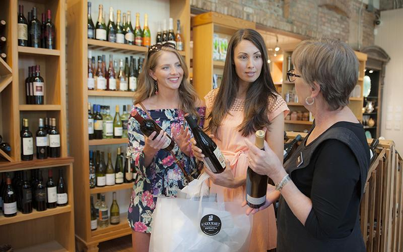 Wine shopping at SoGourmet downtown