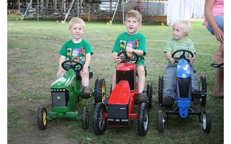 Saratoga Co. Fair kids on tractors