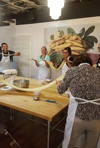 People in a Local Epicurean cooking class in Grand Rapids
