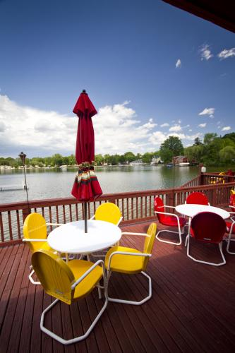 Bostwick Lake Inn patio overlooking lake in Grand Rapids, MI