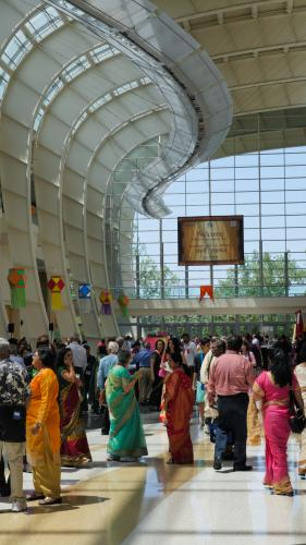 Attendees of Bruhan Maharashtra Mandal at DeVos Place in Grand Rapids