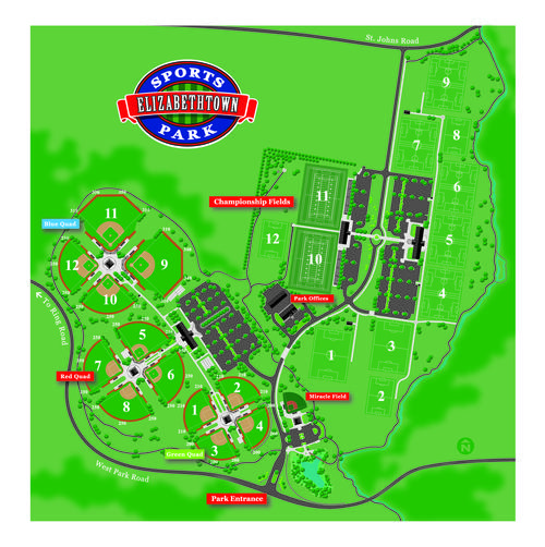Elizabethtown Sports Park Map