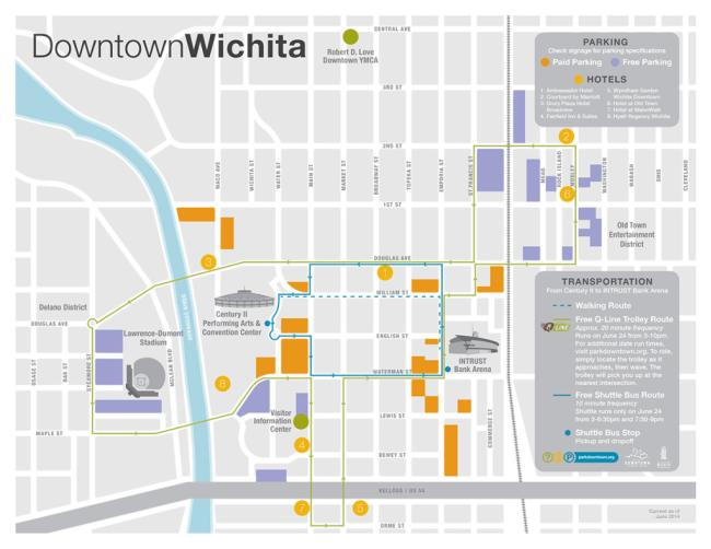 Downtown Parking Map YMCA