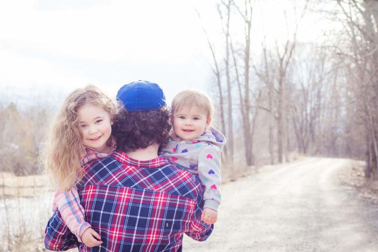Mylah and Hannah with Matt