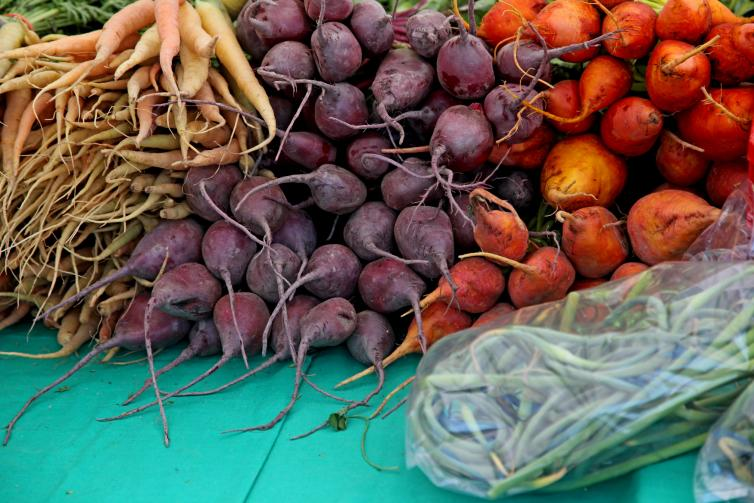 Root Vegetables at Kelowna Farmers' Market