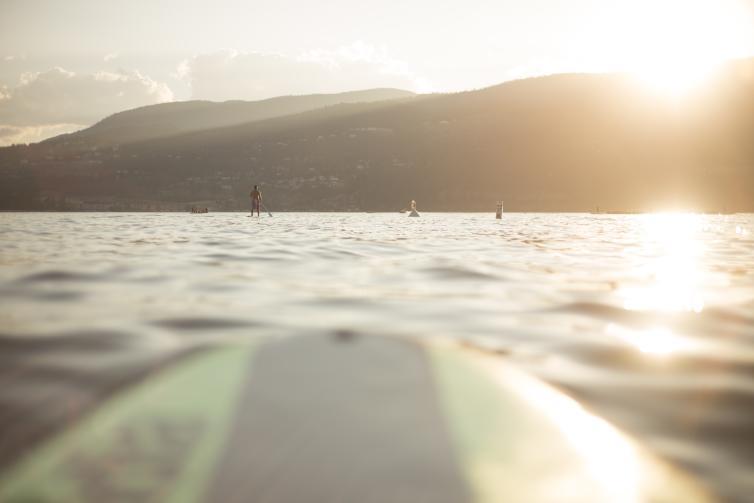 Paddleboarding Okanagan Lake