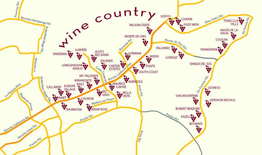 Wine Country Map