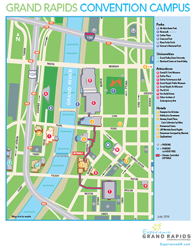 Map Of Downtown Grand Rapids Convention Campus