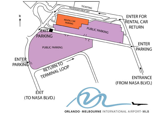 Orlando-Melbourne International Airport Parking Map