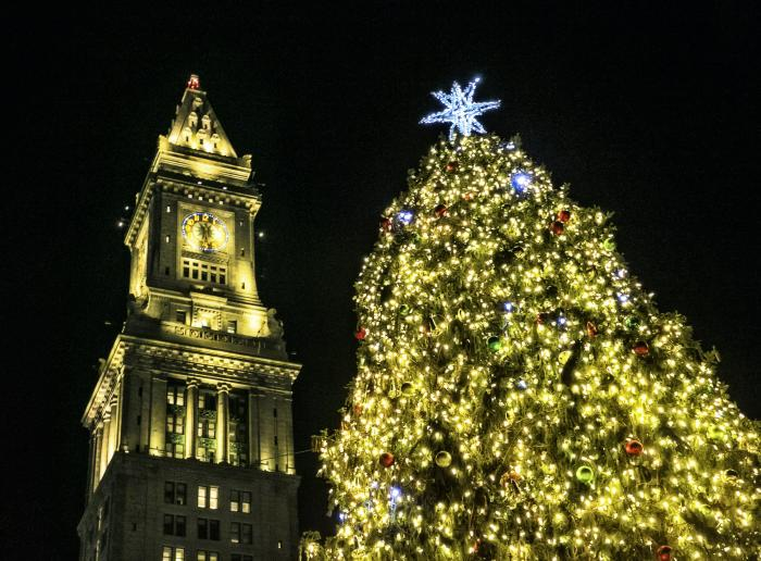 Boston's Holiday Lights Trail - Blink at Faneuil Hall Marketplace