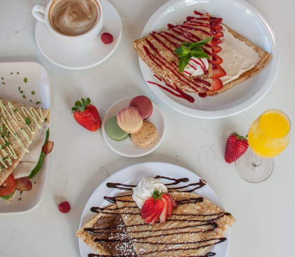 Spread of crepes from Crepe Crazy