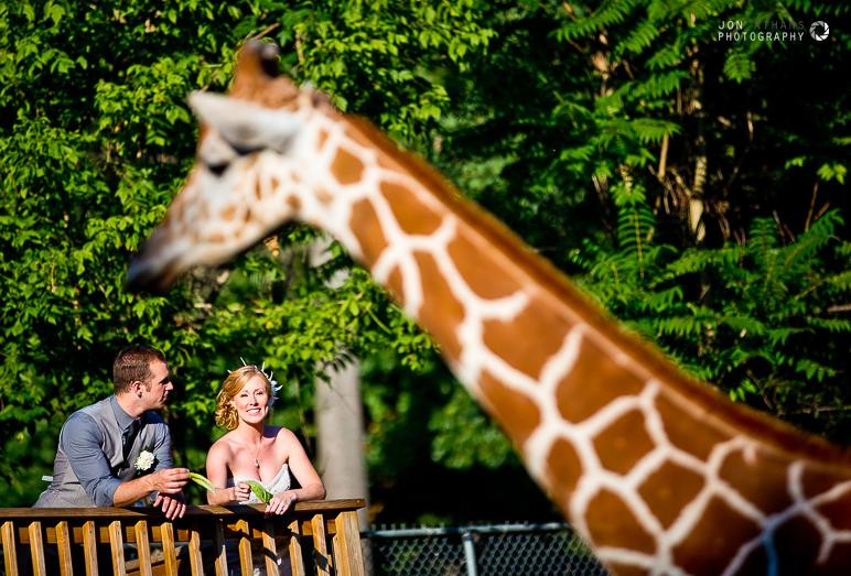 Elmwood Park Zoo Wedding Photo