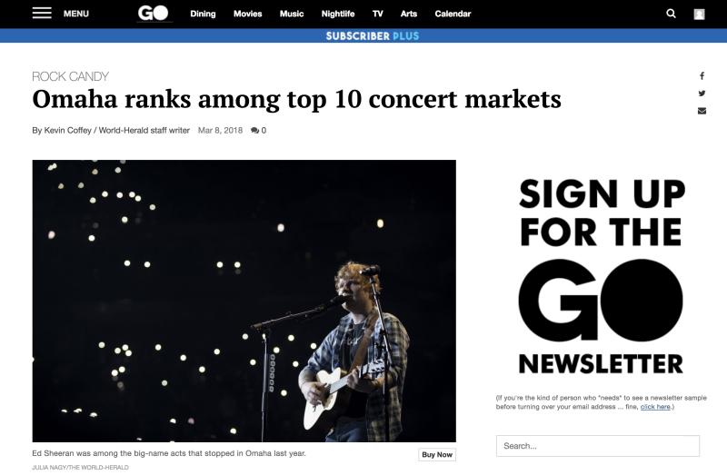 Top 10 Concert Markets