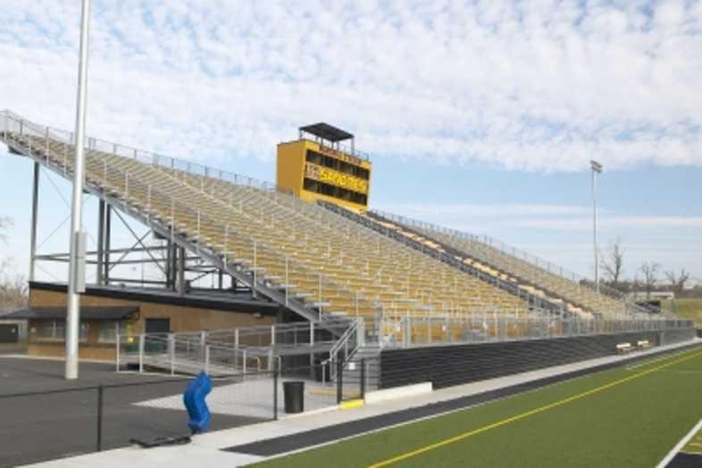 Football Bleachers - Sand Springs Public Schools