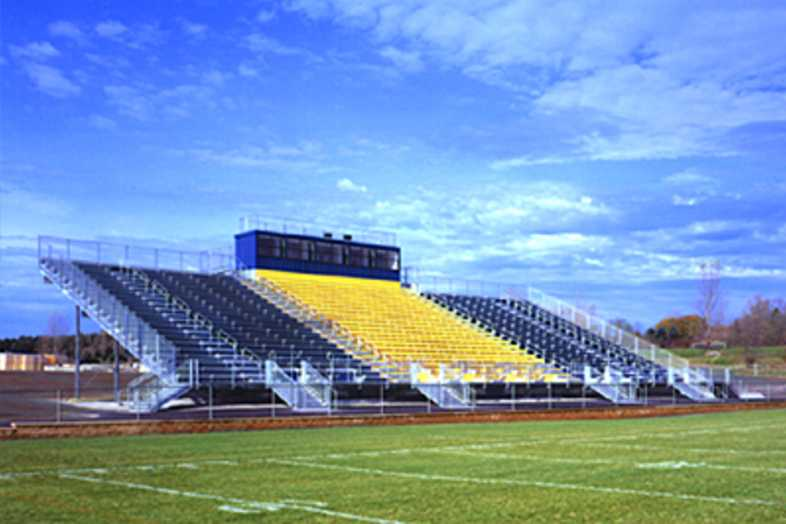 Football Bleachers - Manistee Area Public School