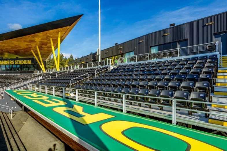 University of Oregon - Jane Sanders Softball Stadium - Built by Southern Bleacher - 6
