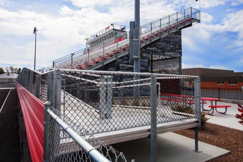 PLYMOUTH COMMUNITY SCHOOL CORPORATION - Football Field - Built by Southern Bleacher - 5