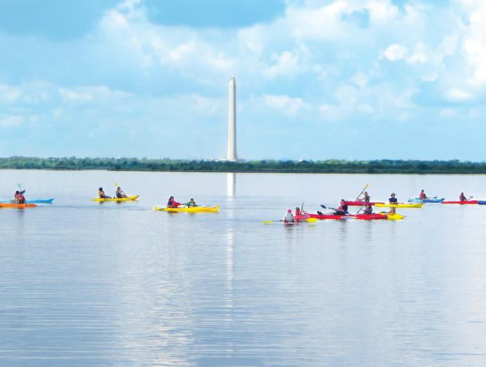 Kayakers in Baytown