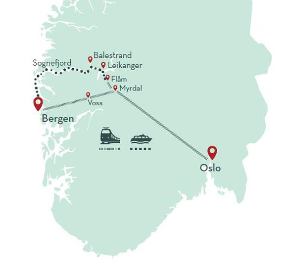 Sognefjord in a nutshell map