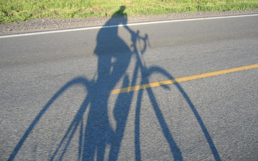 Shadow on a bike