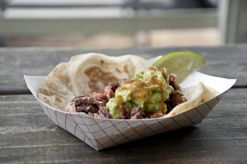 Taco from Valentinas Tex Mex BBQ