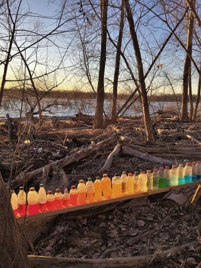 Al Gorman rainbow bottles