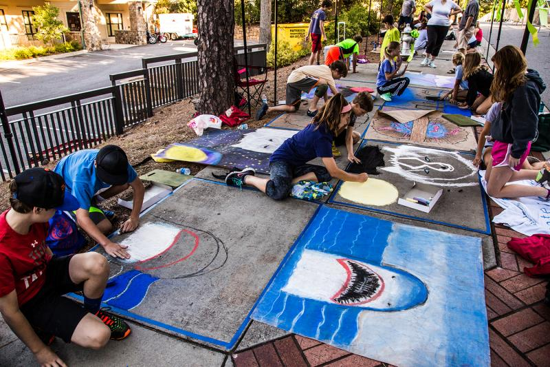 Chalk Walk at Sandy Springs Festival