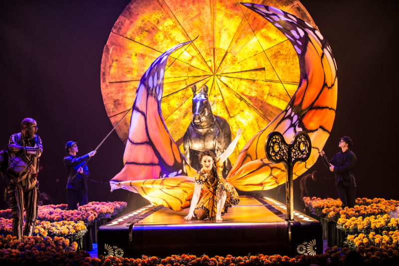 Performers in Cirque du Soleil's Luzia