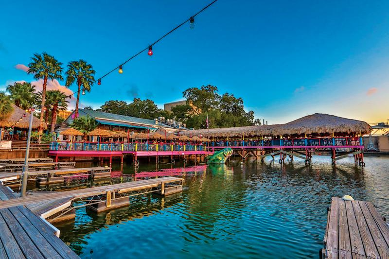 Hula Hut patio from Lake Austin in west Austin Texas