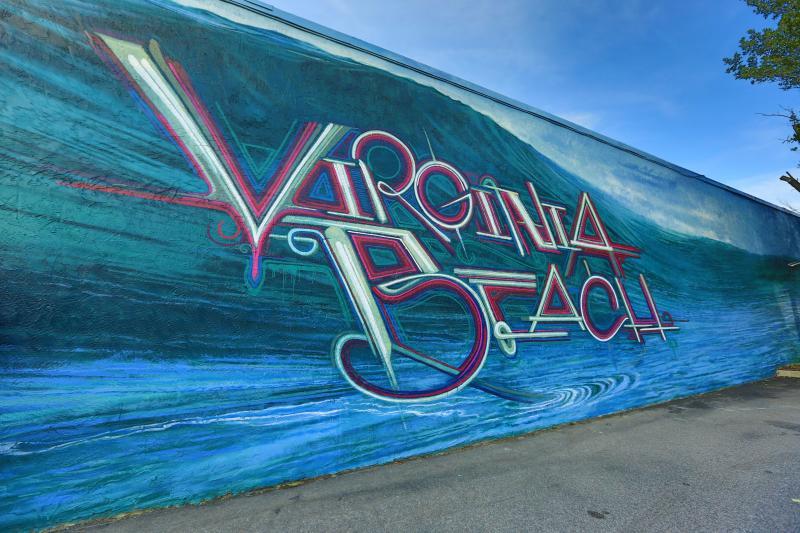 """Virginia Beach"" by CAESAR ViBe District Mural"