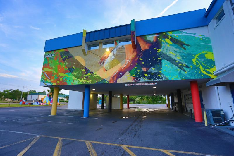 """""""Surfs Up"""" By ARCY ViBe Creative District Murals"""