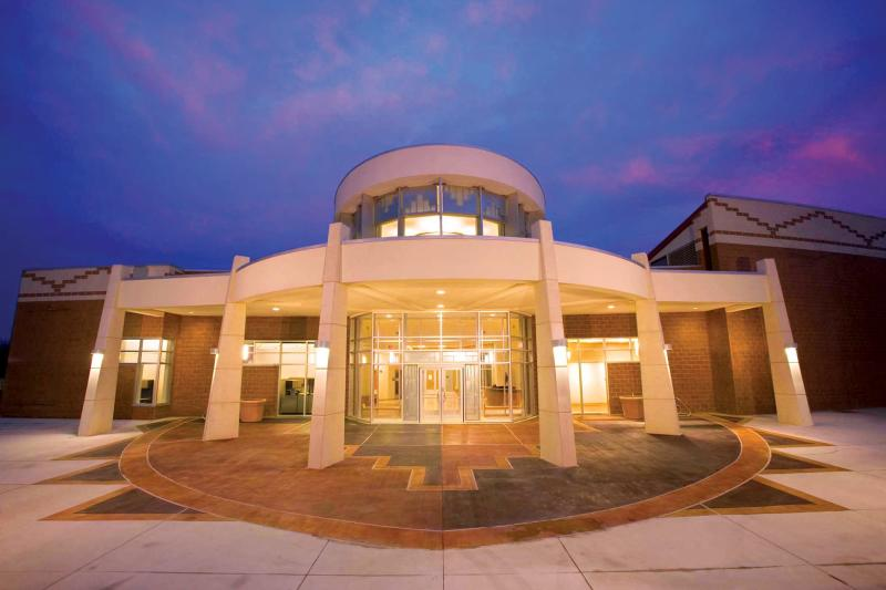 exterior of George Washington carver museum and cultural center in east austin texas