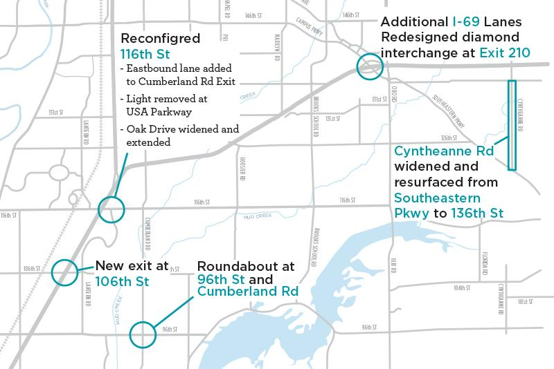 Fishers Road Construction Map