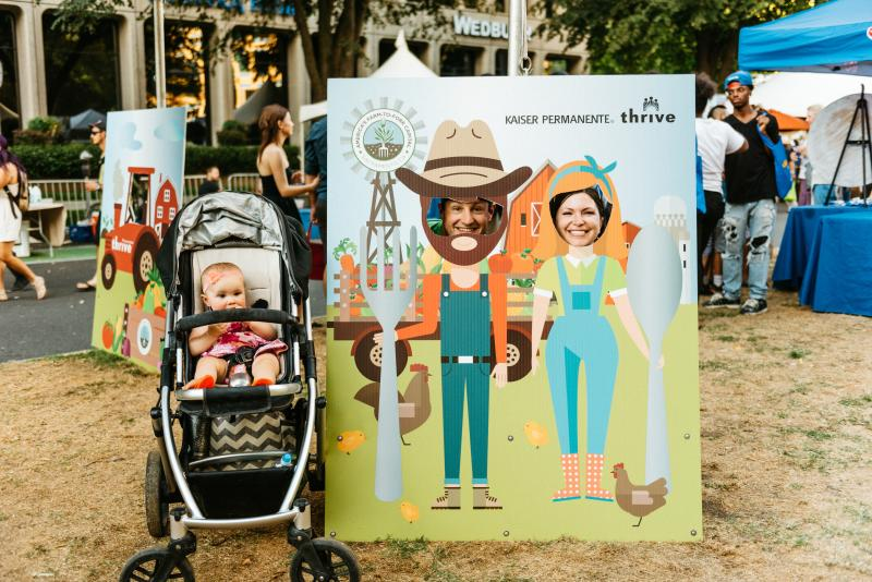 Families at the Farm-to-Fork Festival