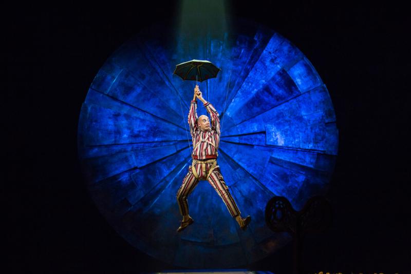 A performer in Cirque du Soleil's Luzia in Irvine