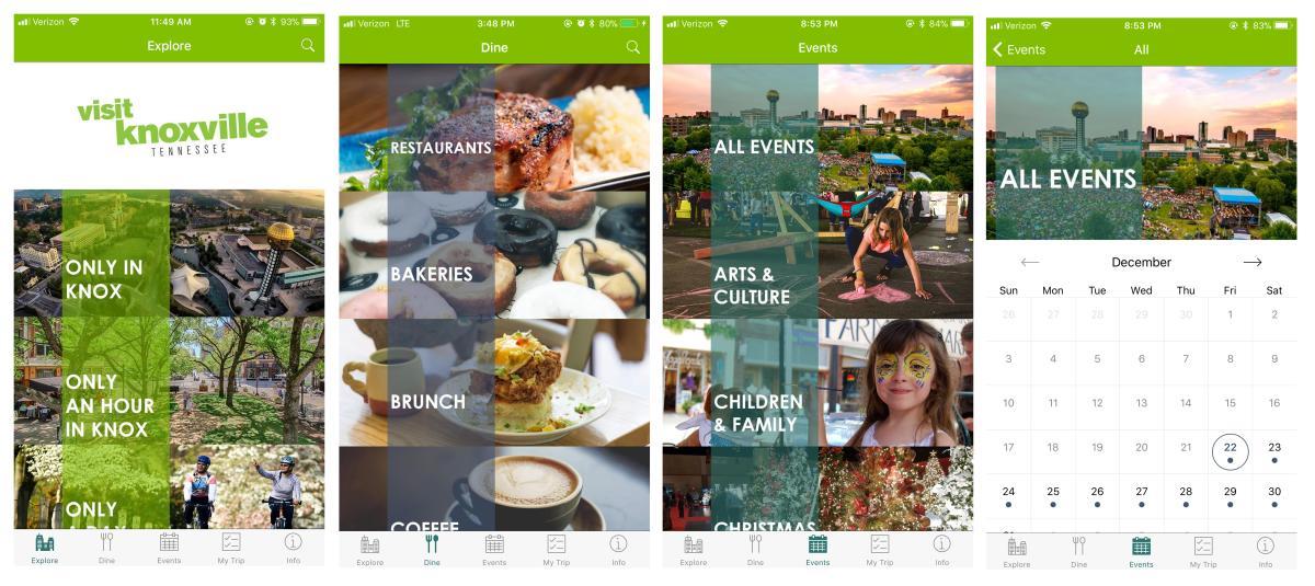 Phone app screenshots