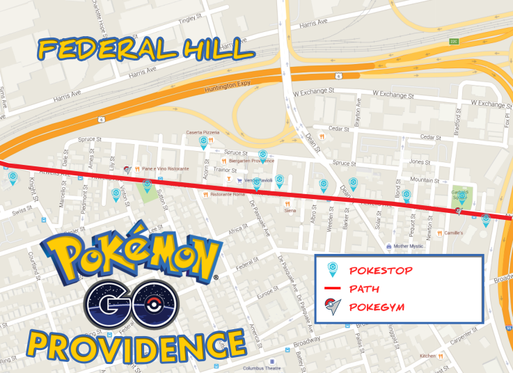 Pokemon Go Providence: Federal Hill