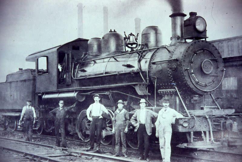 Historic photo of Train in Carrboro