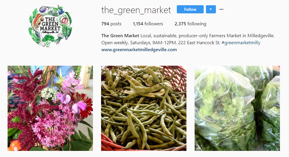 The Green Market Insta