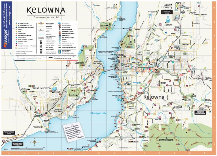 Tourism Kelowna Counter Map 2018